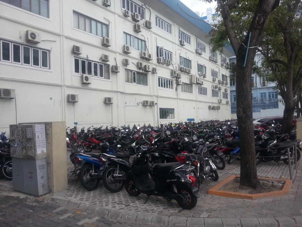 На Мале очень любят скутеры